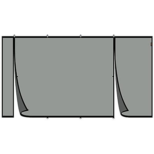 MAGZO Upgraded Magnetic Garage Door Screen 16x7ft, Reinforced Double Opening Garage Screen for 2 Car Garage with Heavy Duty Fiberglass Pet Friendly Firmer Installation Garage Door Mesh(Black)