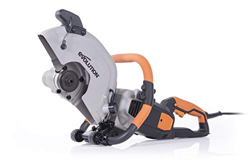 Evolution (R300DCT+) - 12 in Concrete Saw (Aka Circular Saw, Angle Grinder, Chop Saw, Cut Off Saw, Demo Saw, Disc Cutter, Power Cutter) - 15A Motor, No Gas - 4-1/2 in Cut