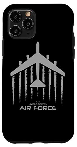 iPhone 11 Pro Air force B-52 Bomber American Flag Veteran Men Women Case