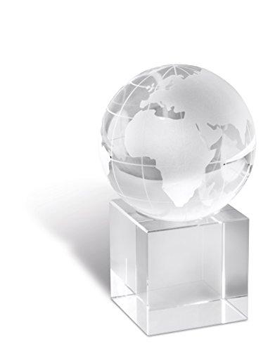 Briefbeschwerer Büroaccessoires Schreibtischdeko mit Weltkugel aus Glas transparent