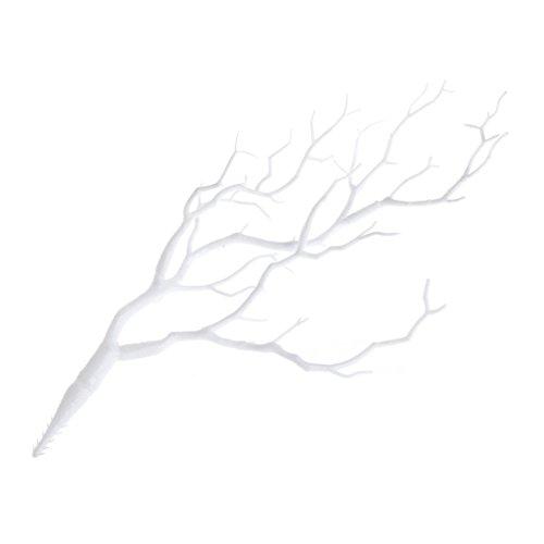 Xuniu Piante Artificiali Albero Secco Rami di Corallo Pavone di plastica Decorazione di Cerimonia Nuziale Bianco 36cm