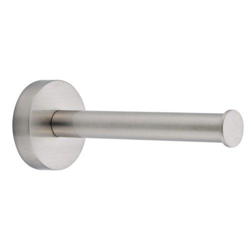 Nie Wieder Bohren Moon Toilettenpapierhalter, für Ersatzrollen, Edelstahloptik, inkl. Klebelösung, hält bis 6kg, 49mm x 49mm x 120mm