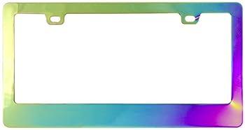 Custom Accessories - 92824 Chrome Chameleon License Plate Frame