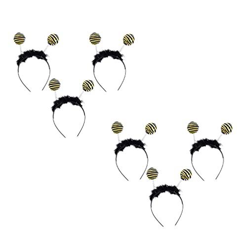 Minkissy 6 Piezas Bandas para La Cabeza de Abeja Bandas para El Cabello de Tentáculos de Abeja Pom Pom Boppers Diadema para Disfraz de Tentáculos Accesorio para Fiesta de Halloween Disfraz