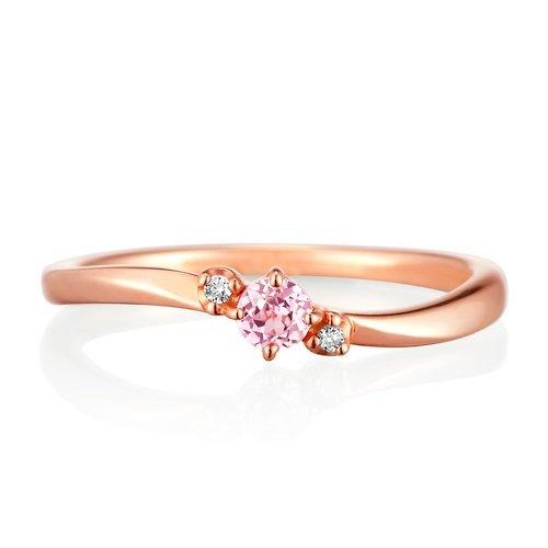 4℃ (ヨンドシー) ダイヤモンド&シンセティックサファイアK10ピンクゴールド(PG)リング 日本サイズ6号 111226143106