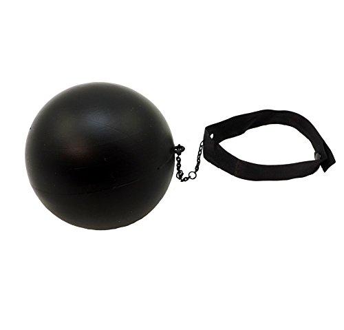 Star Power Kleiner Kunststoff Ball & Kette Kostüm Zubehör