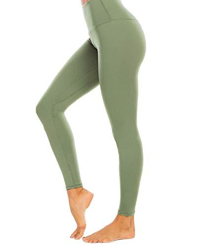 AUU High Waist Yoga Leggings with 2 Pockets, Tummy Control Workout Running 4 Way Stretch...