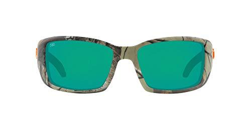 Costa Del Mar Men's Blackfin 580G Polarized Round Sunglasses, Realtree Extra Camo/Copper Green Mirrored Polarized-580G, 62 mm