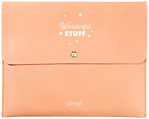 Mr. Wonderful Funda para Agenda Wonderful Stuff, Coral, 28 x 22,5 x 1 cm
