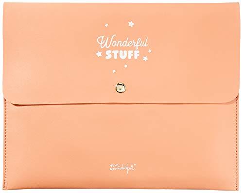 Mr. Wonderful Custodia per Agenda Wonderful Stuff, Coral, 28 x 22,5 x 1 cm