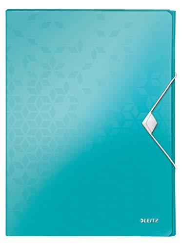 Leitz 46290051 Ablagebox WOW, A4, PP, 30 mm, eisblau