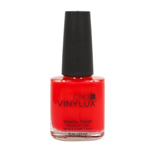 122 CND - VINYLUX LOBSTER ROLL Weekly Polish Nail Hot Red Pink Color Coat 0.5oz by CND
