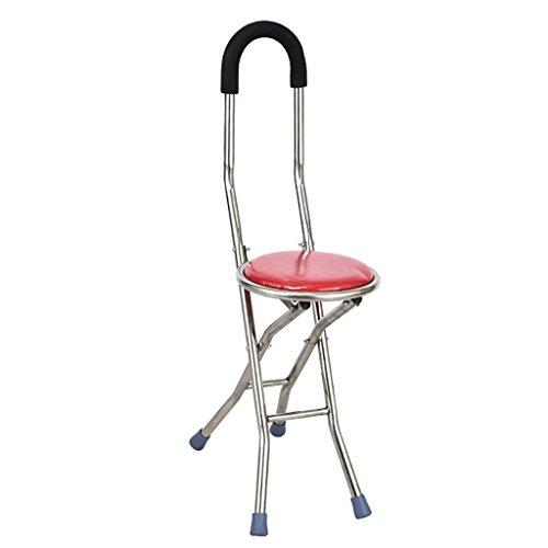 Wenjun stainless steel Old Man stampella bastone da passeggio, sgabello anziani quattro piedi fold Walker Take a quattro piedi cane sgabello sedia