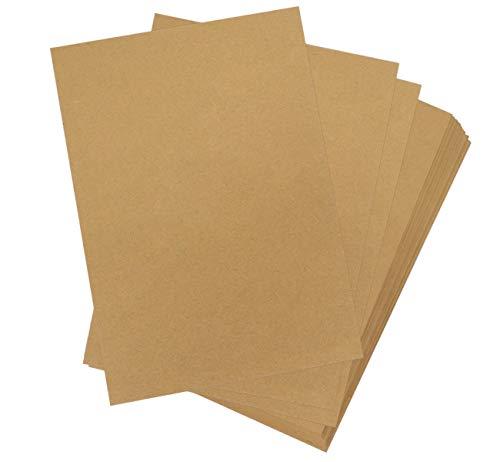 Absofine 60 Hojas A4 Papel Kraft Reciclado 170 gsm absfina para Artes y Manualidades Suministros de Oficina Papel de Impresión
