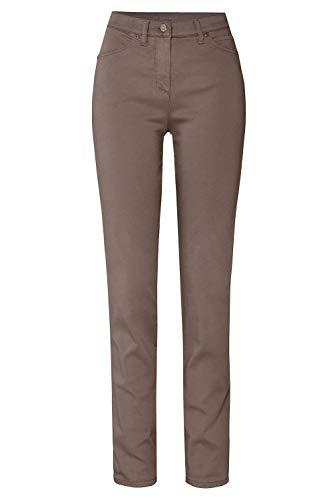 TONI Damen 5-Pocket-Hose »be Loved« aus Baumwoll-Satin 46K Taupe