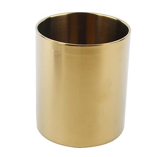 Rockiny Taza - Soporte Multiusos del bolígrafo del florero de la Taza de la Cerveza del café del Acero Inoxidable 400ML(Oro)