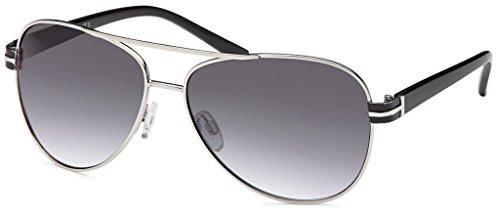 Balinco 17 Modelle Damen Pilotenbrille Sonnenbrille 70er Jahre Sunglasses Fliegerbrille (Black-Grey)