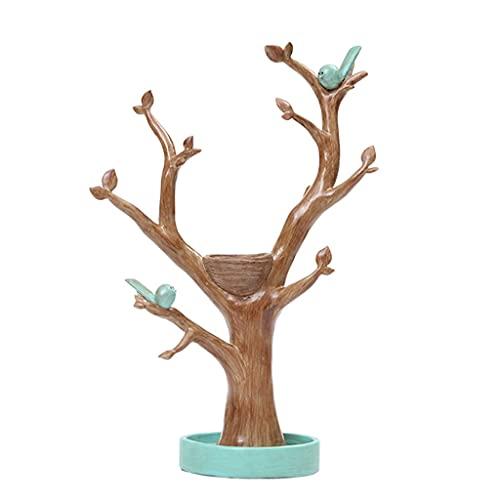 ZhaoLiRuShop Colgador De Joyas Soportes para Joyas Creative Tree Jewelry Soporte De Escritorio Organizador Organizador Anillo Collar De Exhibición Soporte Hogar Árbol Decoración Adornos