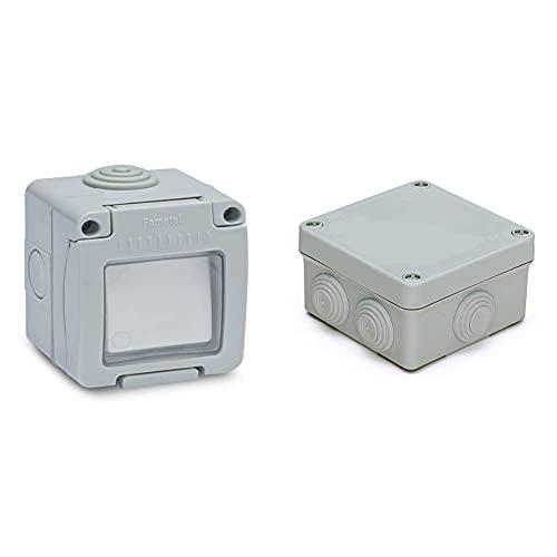 FAMATEL M111776 Conmutador Estanco 10A Ip55 + 3011 Caja Estanca