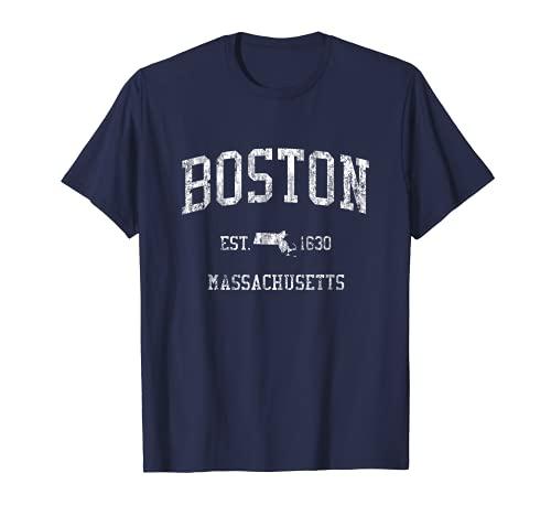 Boston T-Shirt Vintage Sports Design Boston Massachusetts MA