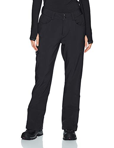Arctix Women's Sarah Fleece-Lined Softshell Ski Snow Pants, Black, Small