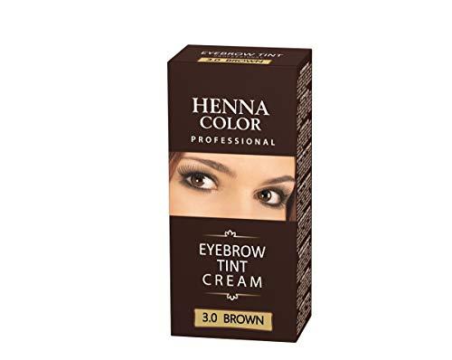 Henna Color 3.0 Braun Creme für Augenbrauen Henne Öko bis zu 4 Wochen Farbintensität,...