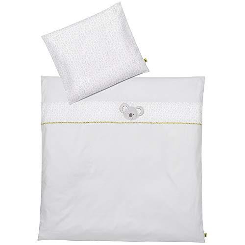 FEHN 064599 Baby-Bettwäsche Australia / Bettwäsche-Set Australia für Babys aus Kopfkissen 35 x 40 cm und Bettdecke 80 x 80 cm