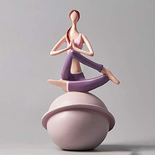 Rzeźba rzemieślnicze posągi kolekcjonerskie wystrój domu, statua pulpitu joga wystrój jogi pozy figurki, joga statua dla Zen, medytacja, jogi prezent pomysły winiarskie szafki winiarskie Wejście Telew