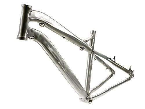 26 Zoll Alu Fahrrad MTB Dirt Rahmen Ketten Schaltung Disc roh unlackiert Rh 43cm