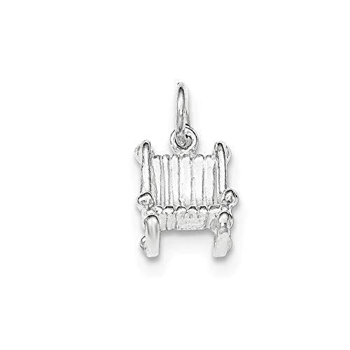 Argent Sterling poli pendentif JewelryWeb Chaise à bascule