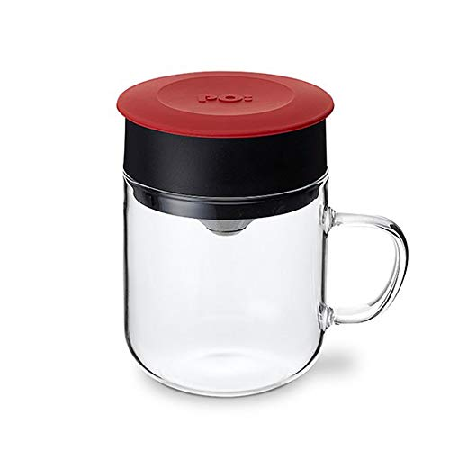 Po Selected Kaffeebrüher direkt ins Glas mit papierlosem Edelstahlfilter. Manueller Drip Kaffeebereiter. 270ml