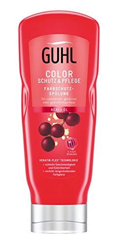 Guhl Color Schutz und Pflege Farbschutz Spülung/Conditioner - mit Acai-Öl - für coloriertes und getöntes Haar, 200 ml
