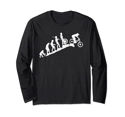 Evolution Downhill Mountain Bike MTB Mountain Biking Long Sleeve T-Shirt