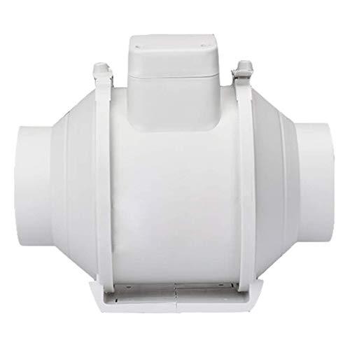 ASYCUI Ventilation Extractor Haushaltsrohr Low Noise Pipeline Extractor Fans, rund 6 Zoll Geneigte Laufanhebung for Küchenlüftungsventilator