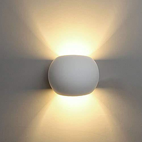 Vetrineinrete Applique da parete in gesso tondo a doppia emissione luminosa up e down verniciabile lampada con attacco g9 moderno IP20 X31