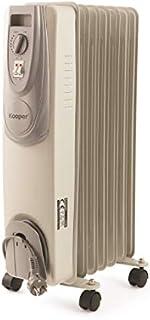 kooper 2191365–Radiador AL óleo 7Elementos 1500W Santorini, Color blanco