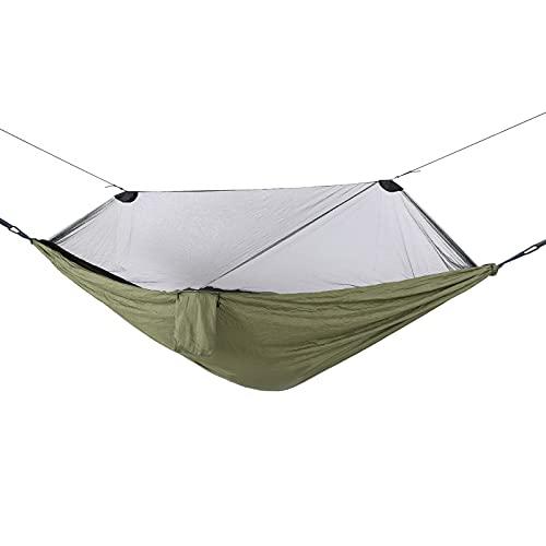 FEYV Mosquitera para Exteriores, hamacas Individuales Ligeras 280x140cm Hamaca para Acampar Hamacas para paracaídas con mosquitera para Acampar para mochileros