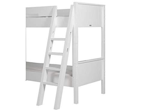 Schräge Leiter mit Griffmulden für Etagenbett Combiflex Weiß, Bopita