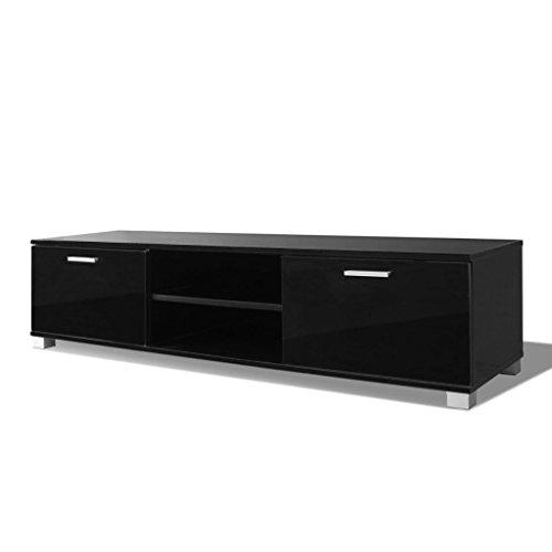 vidaXL Hochglanz TV-Schrank Fernsehtisch Lowboard Sideboard 140x40,3x34,7 cm