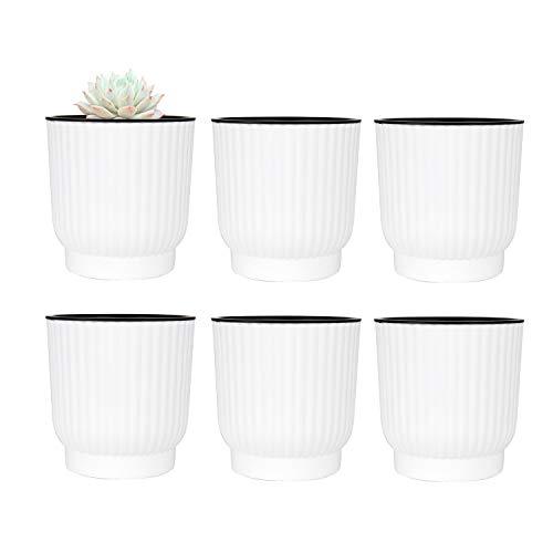 T4U Plastic Zelf Wateren Planter, Lange termijn Water Opslag Plant Pot/Macaron-Gekleurde Bloempotten Outdoor Indoor Yard Tuin Home Decoratie Set