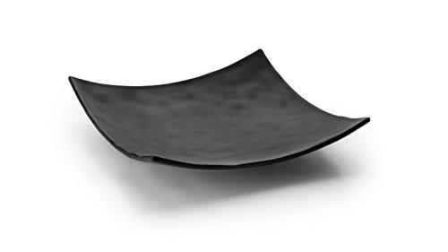 Lacor - 63373 - Fuente De Melamina Cuadrada 25x25x5 - Negro