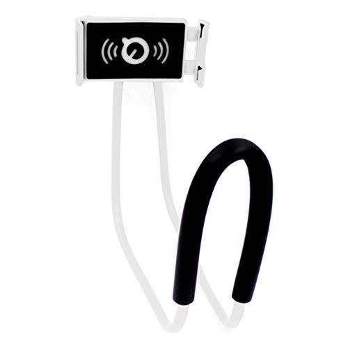ZXY Hals-Anhänger Faule Halskette Handyhalter, Multifunktions Film Nachtfarbhalter Live-Übertragung geeignet für Smartphones,Weiß