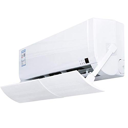 Winbang Deflector retráctil del acondicionador de Aire, Protector del acondicionador de Aire Anti-soplado Directo Parabrisas Ajustable Deflector Anti-frío para la Oficina en el hogar
