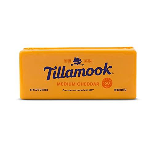 Tillamook Medium Cheddar Cheese, 2 lb (Packaging May Vary)
