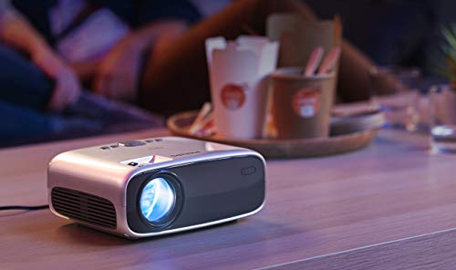Philips NeoPix Easy+ Mini Video Projector, 80 Inch Display, Wi-Fi Screen Mirroring, Bluetooth, Built-in Media Player, HDMI, USB, microSD, 3.5mm Audio Out Photo #5