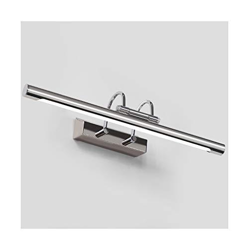 LIU WU FENG Luces de Espejo Espejo retrovisor Luz Delantera Cuarto de baño Baño Lámpara de Pared de Acero Inoxidable Espejo Gabinete Luz [Clase energética A +]