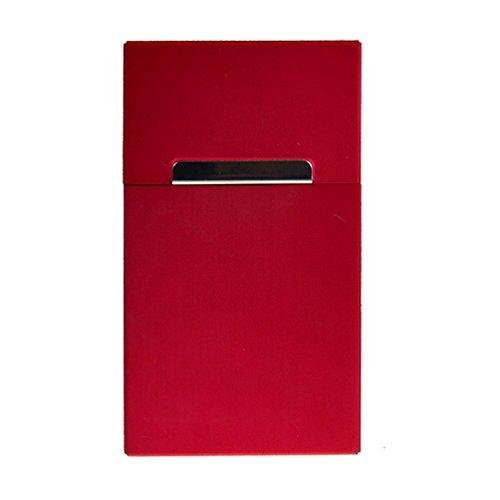 Alu-Zigarettenbox mit Magnet 100 mm , Farbe:Rot