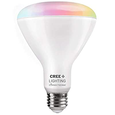 Connected Max Bluetooth + WiFi Smart LED Bulb Tunable White + Color Changing BR30 65W Indoor Flood 1pk