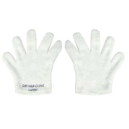 TIREOW Ultra Saugfähiger Instant Handschuh zum Trocknen von Haaren Mehrzweck Handschuh zum schnellen Trocknen Winterhandschuhe Handschuhe für Frauen Männer Kinder (Weiß)