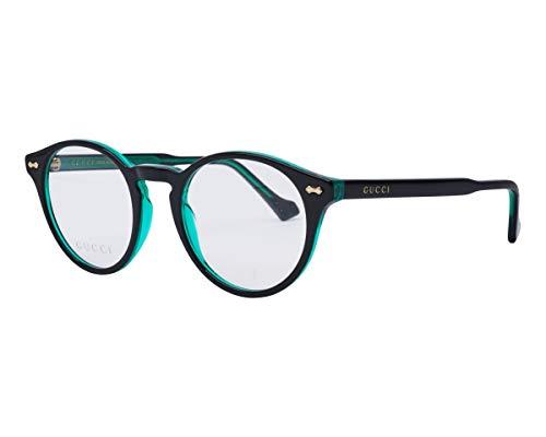 Gucci GG-0738-O 003 - Gafas de plástico acetato, color negro y verde